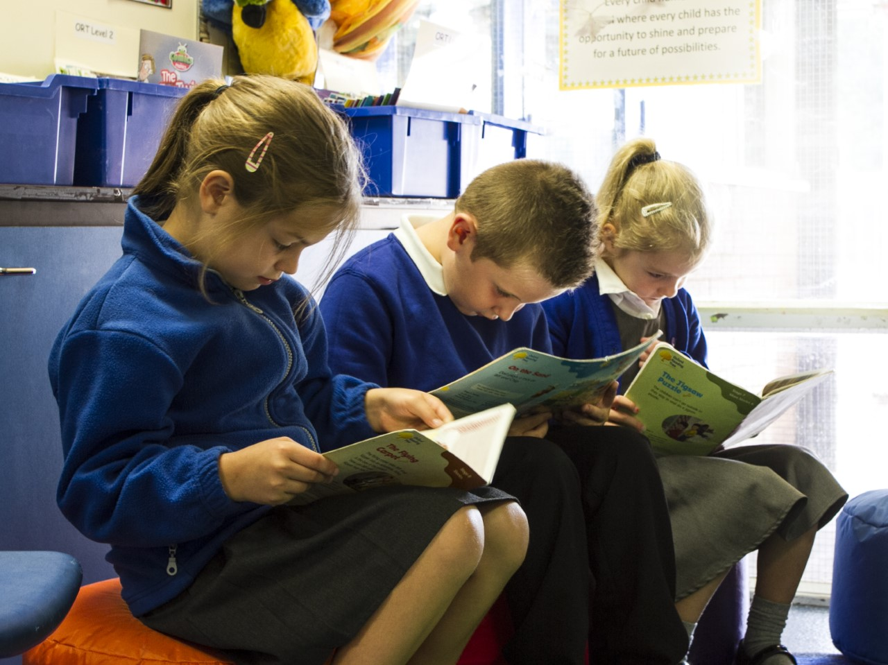 Bowness pupils reading